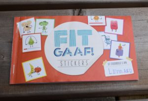 Fitgaaf stickers plakken