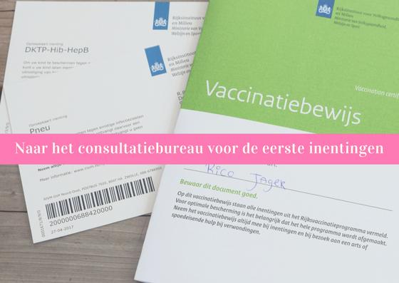 de eerste inentingen baby consultatiebureau