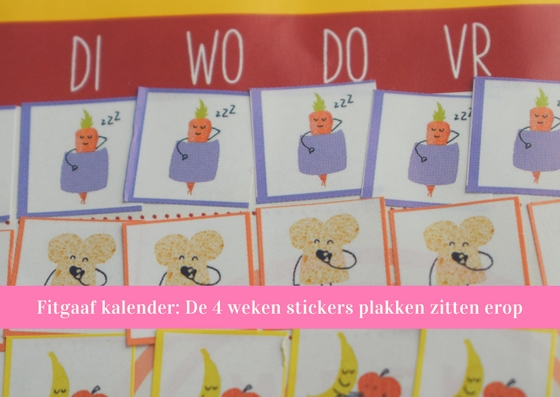 stickers plakken fitgaaf kalender